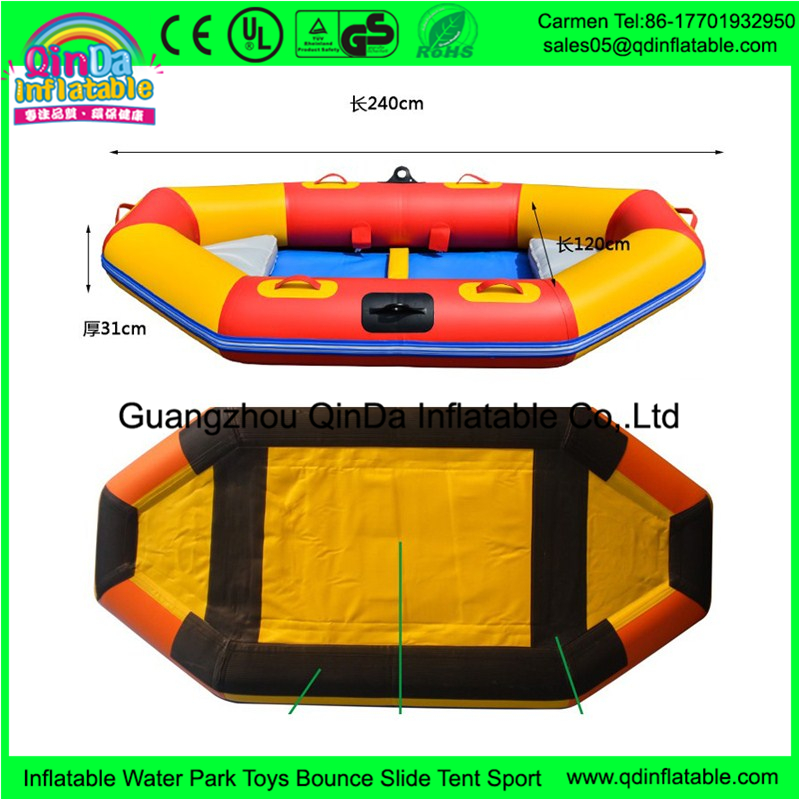Guangzhou manufacturer supplies 0 9 mm PVC material inflatable kayak river raft boat