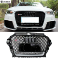 High quality A3 RS3 ABS Auto Car Front BUmper mesh Grills with camera hole For audi A3 RS3 2013-2014