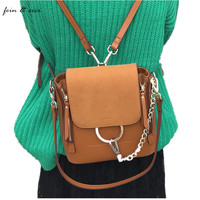 Genuine Leather Small Chains Backpack Bag For Women Luxury Brand High Quality Backpack Shoulder Bag Red