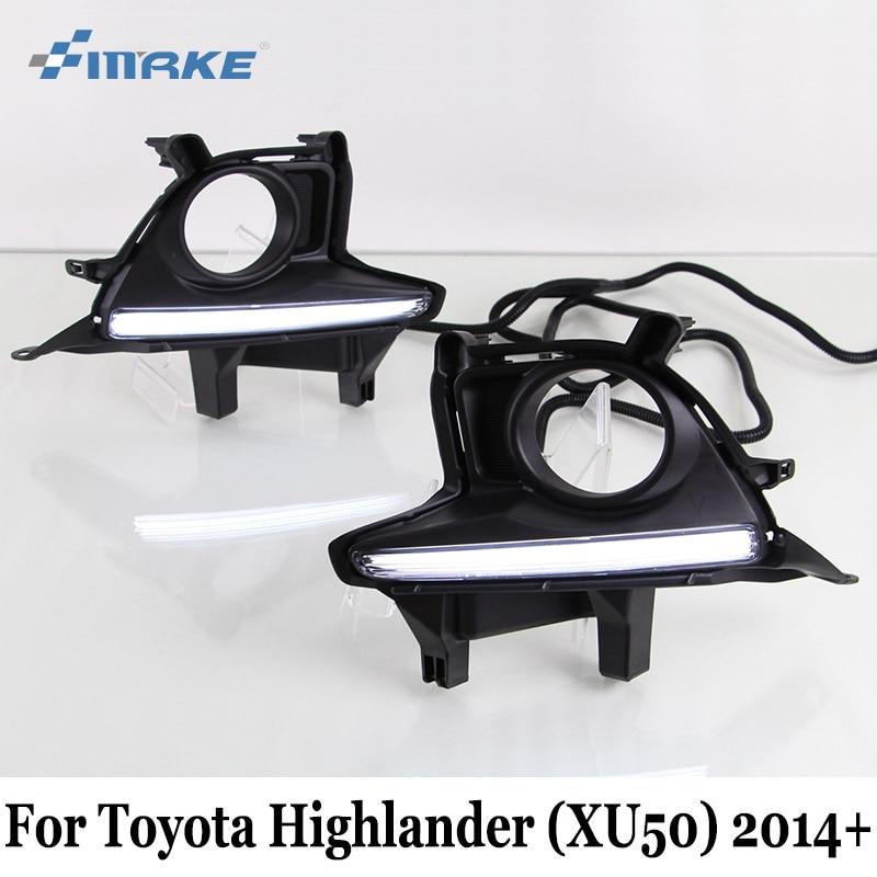 ДХО SMRKE для Тойота Хайлендер XU50 2013~подарок / 12V Водонепроницаемый автомобилей дневного света / автомобиля стайлинг авто вождения лампы