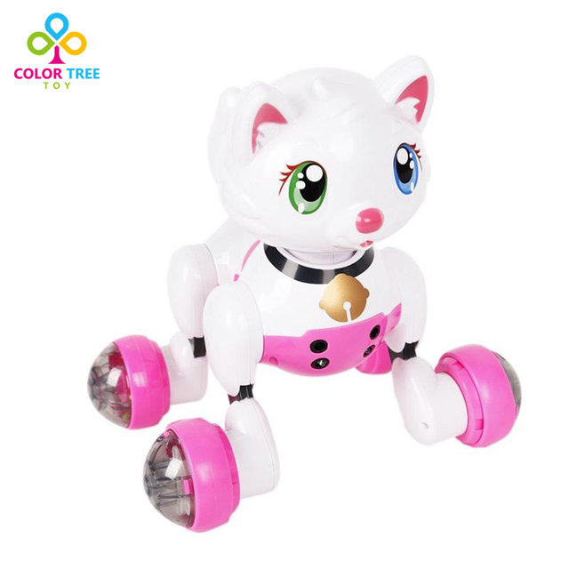 Kids Lovely Animal Toys Voice Recognition Intelligent Electronic Toy Cat with Talk Sing Dance Sleep Laugh
