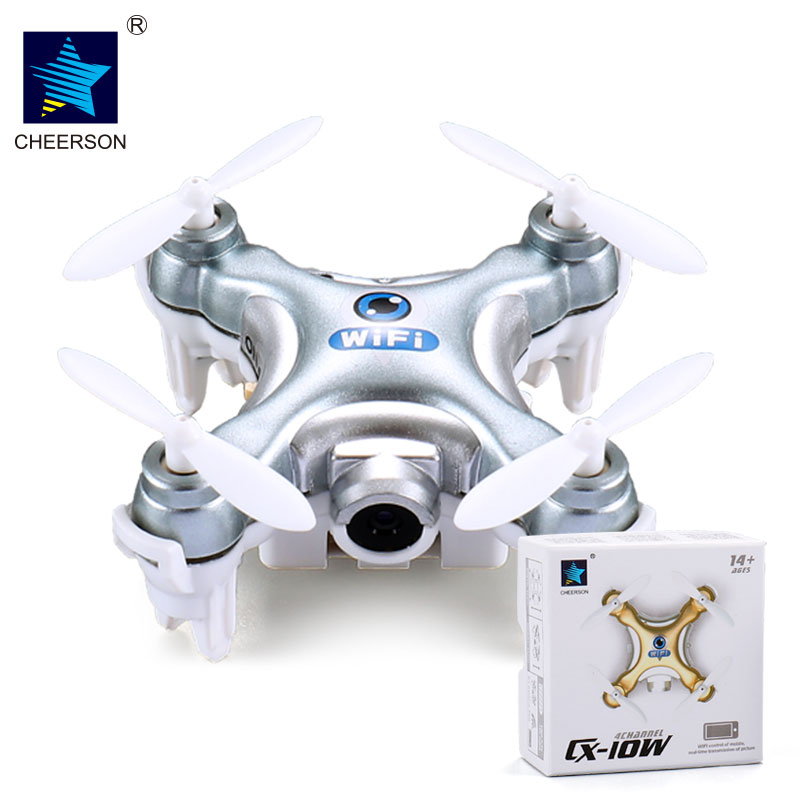 Cheerson CX-10W RC Quadcopter WIFI FPV Camera 3D Flip 4CH CX10 Update Version Mini Drone Hobby Mobile Control Helicopter mini drone rc helicopter quadrocopter headless model drons remote control toys for kids dron copter vs jjrc h36 rc drone hobbies