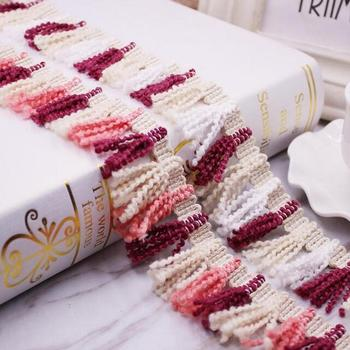 50yds Colors Broom Tassel Lace Trim Fringe Fabric DIY Clothing Accessories Home Textile Curtain Lace Sewing Decorative Material