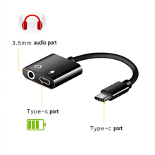 USB C to Jack 3.5 Type C Cable Adapter For Samsung S8 Note8 LG G5 G6 for Huawei Mate 9 (USB Type C 3.5mm AUX Audio Earphone cable)