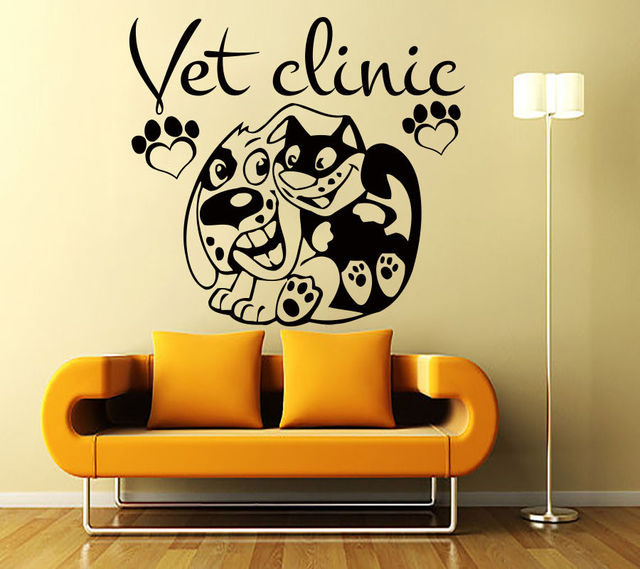 Grooming Salon Wall Sticker Dog Vet Clinic Quote Mural Art Wall ...