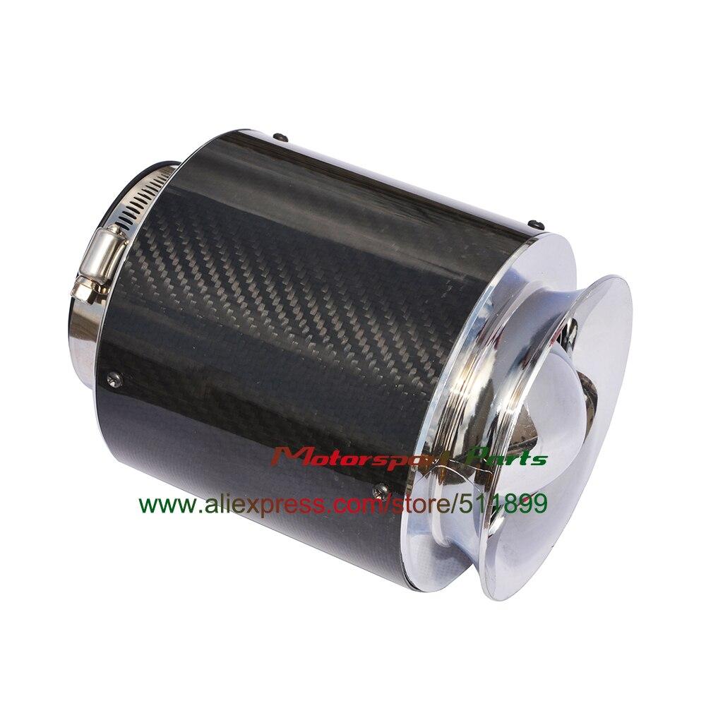 3 ''filtro De Aire De Carreras De Aire Frío De Fibra De Carbono Negro (3 Tamaños Para Elegir)