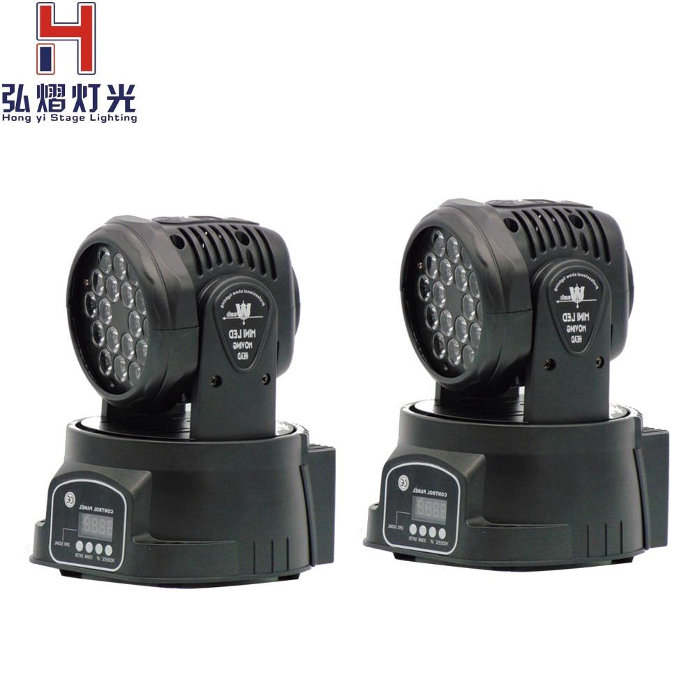 HOT การจัดส่ง LED ไฟ RGB 18X3 W เหมาะสำหรับโทรศัพท์มือถือดีเจ,ปาร์ตี้, ไนท์คลับคุณภาพสูง 2 ชิ้น/ล็อต-ใน เอฟเฟกต์แสงบนเวที จาก ไฟและระบบไฟ บน Hong Yi Stage Lighting factory Store