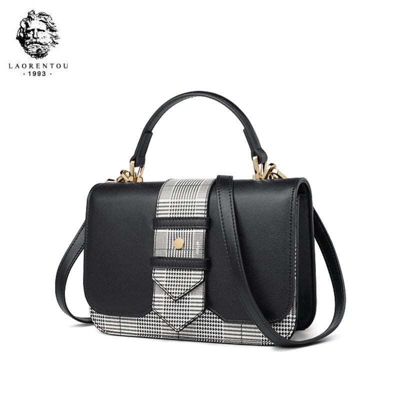 LAORENTOU bolso de marca de lujo de alta calidad 2019 nuevo bolso de hombro de moda casual salvaje portátil bolso de mensajero de cuero