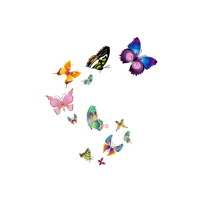 YOJA 19,4X22,5 CM mariposa voladora dibujos animados bebé dormitorio Adhesivo de pared bonito Animal asiento de inodoro etiqueta T1-2282