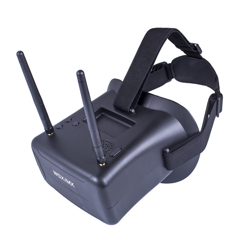 ФОТО SunFounder FPV Goggles 40CH 4.3 Inch HD 5.8GHz with Dual Antennas and 7.4V 1000mAh Battery for RC Quadcopter
