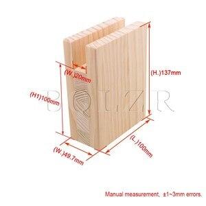 Image 5 - BQLZR 10 × 5 × 13.2 センチメートル木製テーブルデスクベッドライザー家具リフター収納ため 2 センチメートル溝足の 10 センチメートルまでリフトパック 4