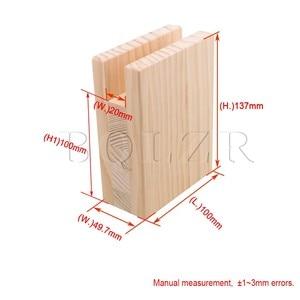 Image 4 - BQLZR 10x5x13.2 سنتيمتر طاولة من الخشب مكتب السرير الناهضون رفع الأثاث رفع التخزين ل 2 سنتيمتر قدم الأخدود يصل إلى 10 سنتيمتر رفع حزمة من 4