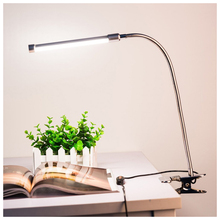 6W 18LED 3-Level Dimmable LED Desk Lamp USB Adjustable Clip on Light Eye-Care Clamp Lamp with Switch