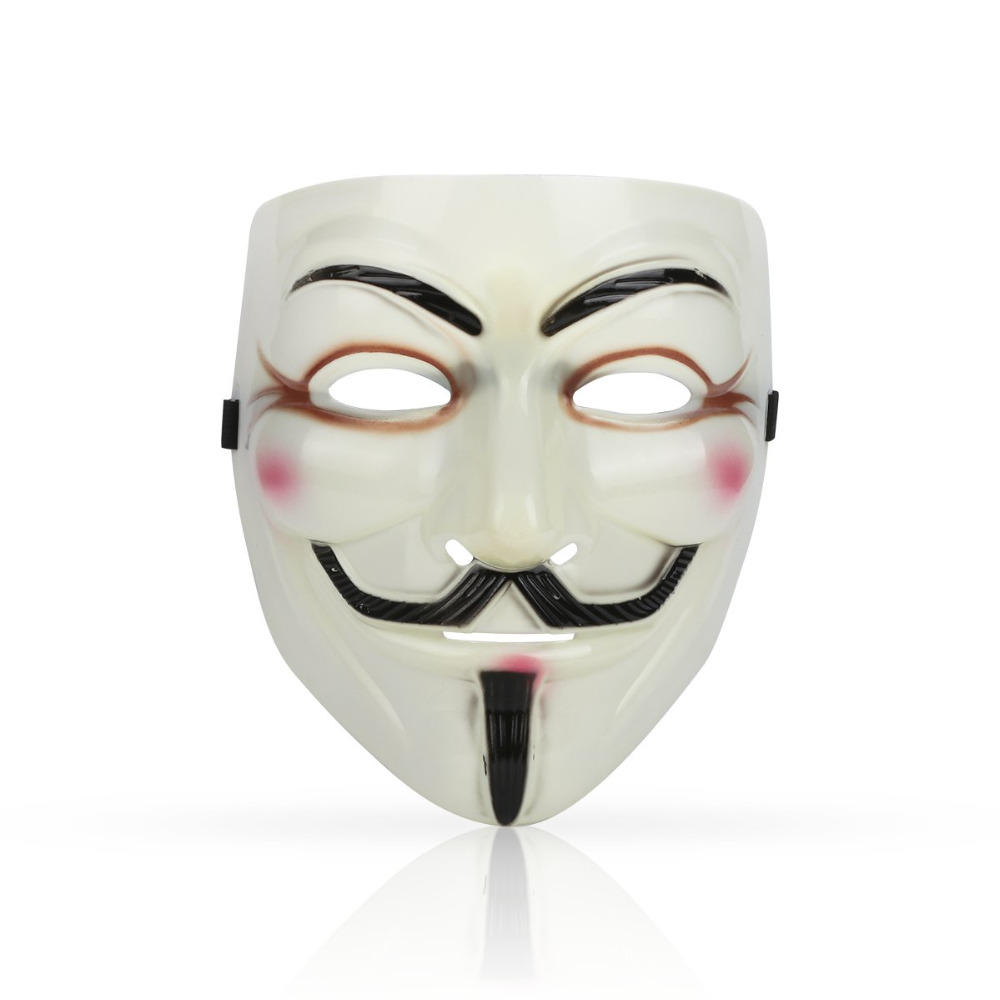 1PCS  Hot Selling Party Masks V for Vendetta Mask Anonymous Guy Fawkes Fancy Dress Adult Costume Accessory Party Cosplay Masks plus size stripe half sleeve sheath dress