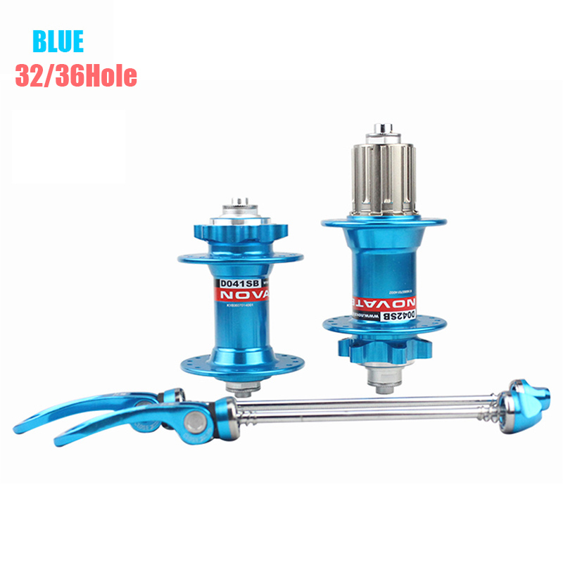 Colorful MTB Mountain Bike Front Rear Bike Hub Set 2 Bearing Disc Brake 24/28/32/36 Holes  Bicycle Hubs with 2 Quick Release 2 bearing bike hubs mtb bicycle front hub rear hub quick release set bike hubs disc bearing holes 32 aluminum alloy 4colors