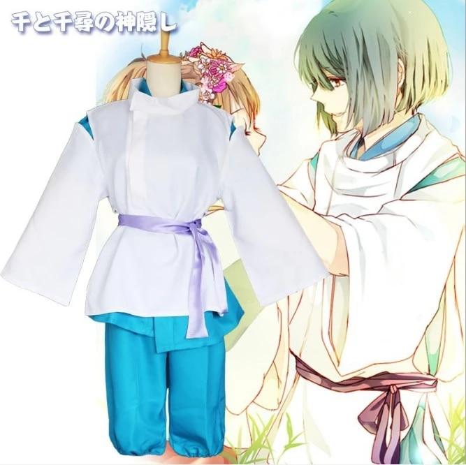 Hayao Miyazaki Spirited Away Haku Spirit Of The Kohaku River Kimono Anime Cosplay Costume Anime Costumes Aliexpress