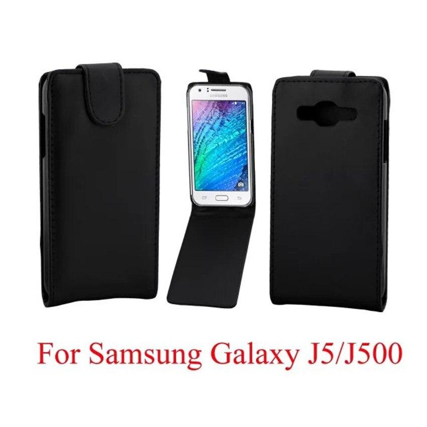 Coque PU kožené pouzdra na telefon Flip Cover pro Samsung Galaxy J5 J500F Zadní telefonní tašky Vertikální Up-Down Otevřený kožený pouzdro