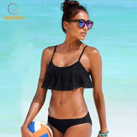 2018 New Sexy Ruffle Bikinis Women Swimsuit Push Up Swimwear Lace Bikini Set Brazilian Bathing Suits