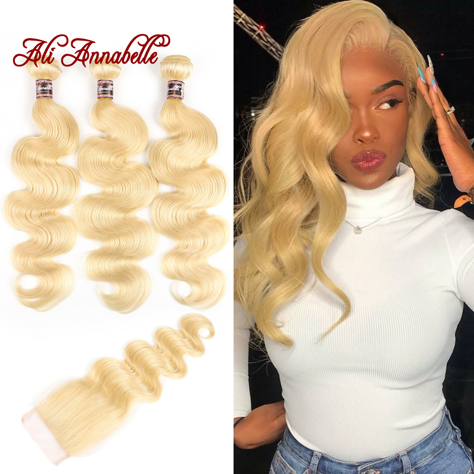 613 Bundles With Closure Peruvian Hair Body Wave 3 Bundles With Closure 100% Human Hair Bundles Body Wave Bundles With Closure
