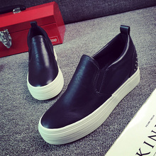 The increase in 6cm new rivet slip on pedal platform Casual shoes thick leather font b