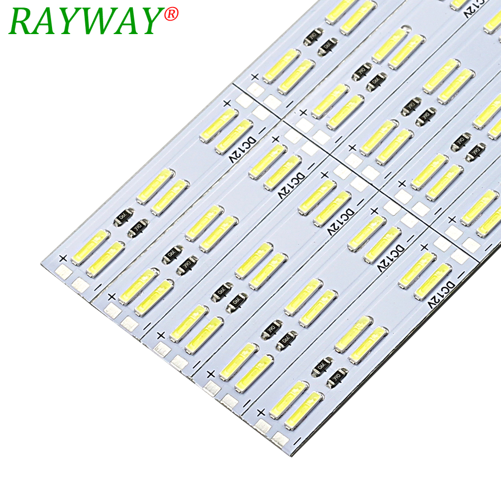 RAYWAY LED Rigid Strip Light 50cm 60LEDs 12V SMD 8520 Dubbel Vit Aluminium LED Strip Hård Belysning För Under Kök Skåp