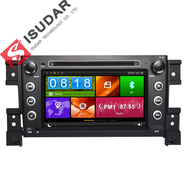Два Дин 7 Дюймов Dvd-плеер Автомобиля Для SUZUKI grand vitara 2005-С 3 Г Хост Навигации GPS Bluetooth IPOD ТВ Радио Свободная карта