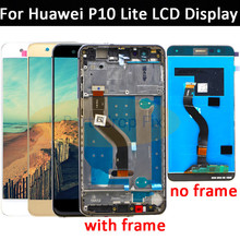 5.2 Inç AAA Kalite LCD Için Çerçeve Ile P10 Lite LCD ekran Ekran Için HUAWEI P10 Lite WAS LX1 WAS LX1A WAS LX2 WAS LX3