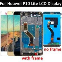 ЖК дисплей с рамкой для HUAWEI P10 Lite, светодиодный экран 5,2 дюйма для HUAWEI P10 Lite WAS LX1 WAS LX1A WAS LX2 WAS LX3