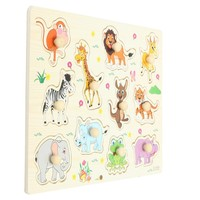 Zoo Animals Wooden Jigsaw Children Kids Baby Learning Educational Puzzle Toy Hot Sale