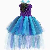 Princess Tutu Peacock Flower Girl Dress Toddler Peacock Inspired Tutu Dresses Infant Tulle Dress Wedding Pageant