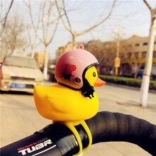 1pcs Cartoon Yellow Silica Gel Little Duck Shape Bicycle Bells Shining Mountain Bike Handlebar Head Light Accessories New