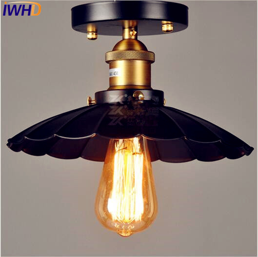 iwhd edison loft industrial conduziu a lampada do teto luzes da sala de estar plafondlamp edison