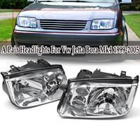 1 Pair Car Headlights Built In Fog Lamp Left + Right for Volkswagen for Vw Jetta Bora Mk4 1999 2005