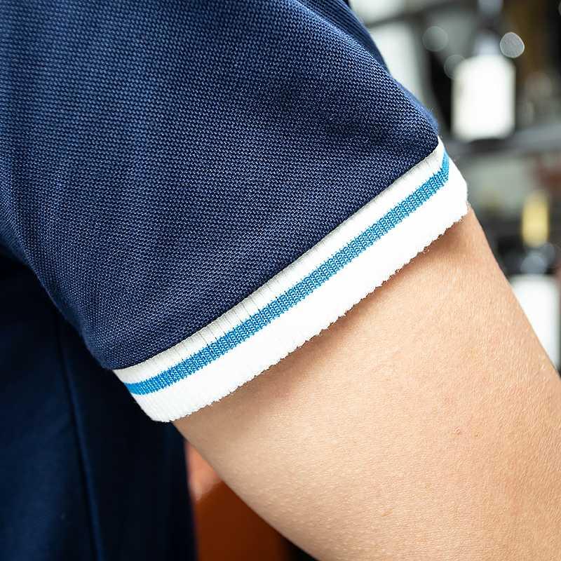 Hayblst 新到着ショートデザイントップショートスリムブランドポロシャツ男性 2019 夏の綿の服カジュアル固体ビジネストップス tシャツ Hombre