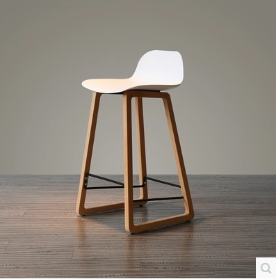 Free Shipping Modern Style Dining Room Stool  White Color