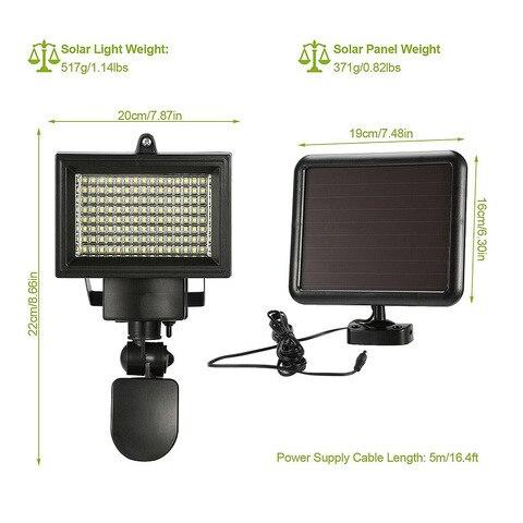 120 led solar lampada de inducao wall