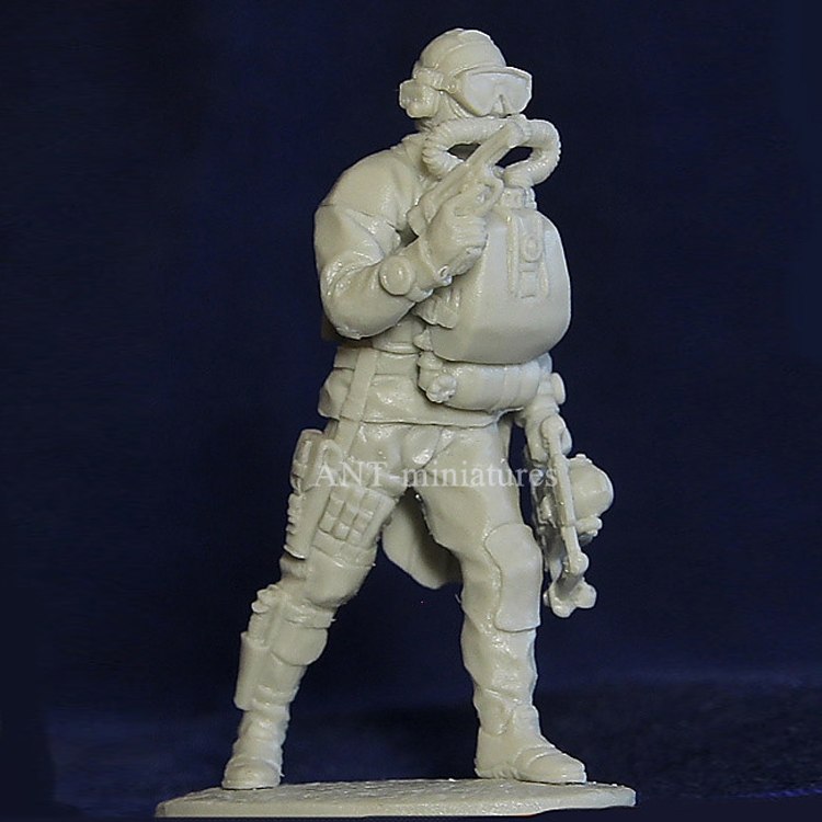 20 Pcs Military Soldiers Navy Frog Man with Flippers and bottle Army Modern