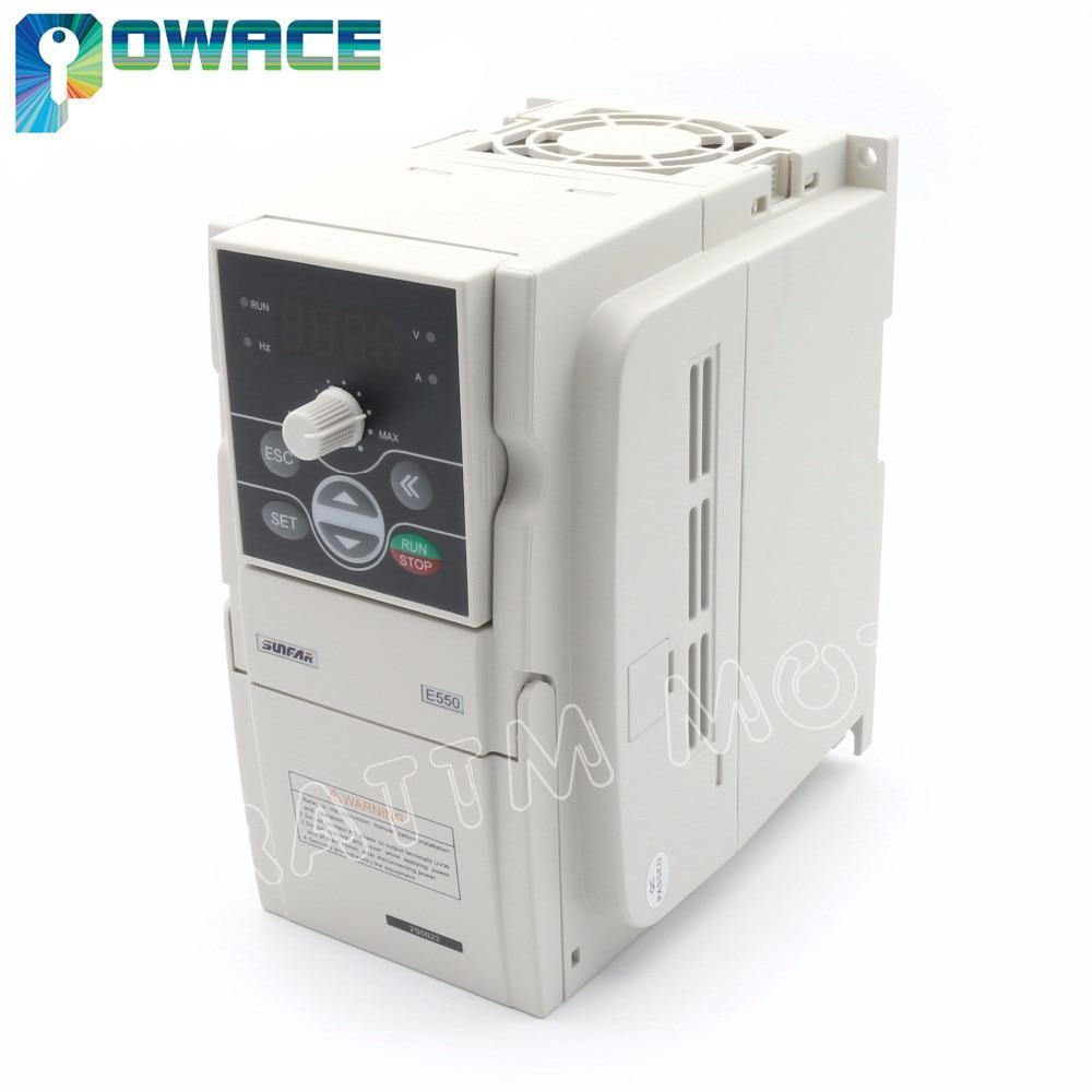 Преобразователь частоты SUNFAR VFD, 2,2 кВт, 220 В, 1000 Гц, с переменной частотой, интерфейс RS485