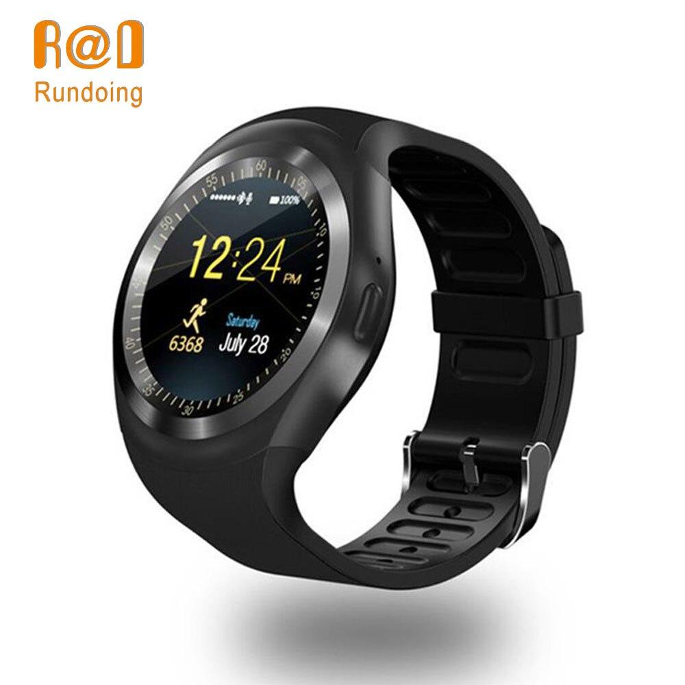Rundoing Y1 smartwatch Intelligente orologio Bluetooth 2g GSM SIM Chiamata di Telefono SIM card orologio intelligente