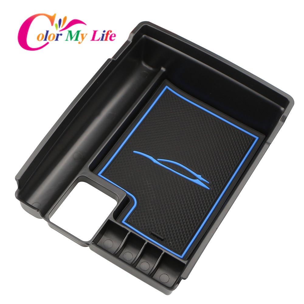Color My Life Armrest Storage font b Box b font Center Console for Nissan X Trail
