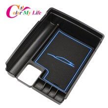 Цвет моей жизни подлокотник коробка для хранения в центральной консоли для Nissan X-Trail, PDF T32 Rogue 2014-2017 перчатки чехол лоток Bin контейнер