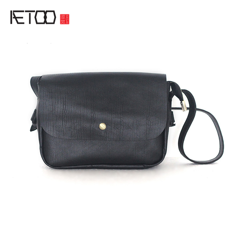 AETOO The new female package Japanese simple fashion leather handbag soft leather layer cowhide shoulder Messenger bag aetoo casual fashion shoulder bag leather new female package first layer of leather bags simple temperament leisure travel packa