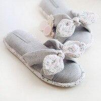 New Spring Summer Flip Flops Women Slippers Cotton Indoor House Home Bedroom Women Shoes