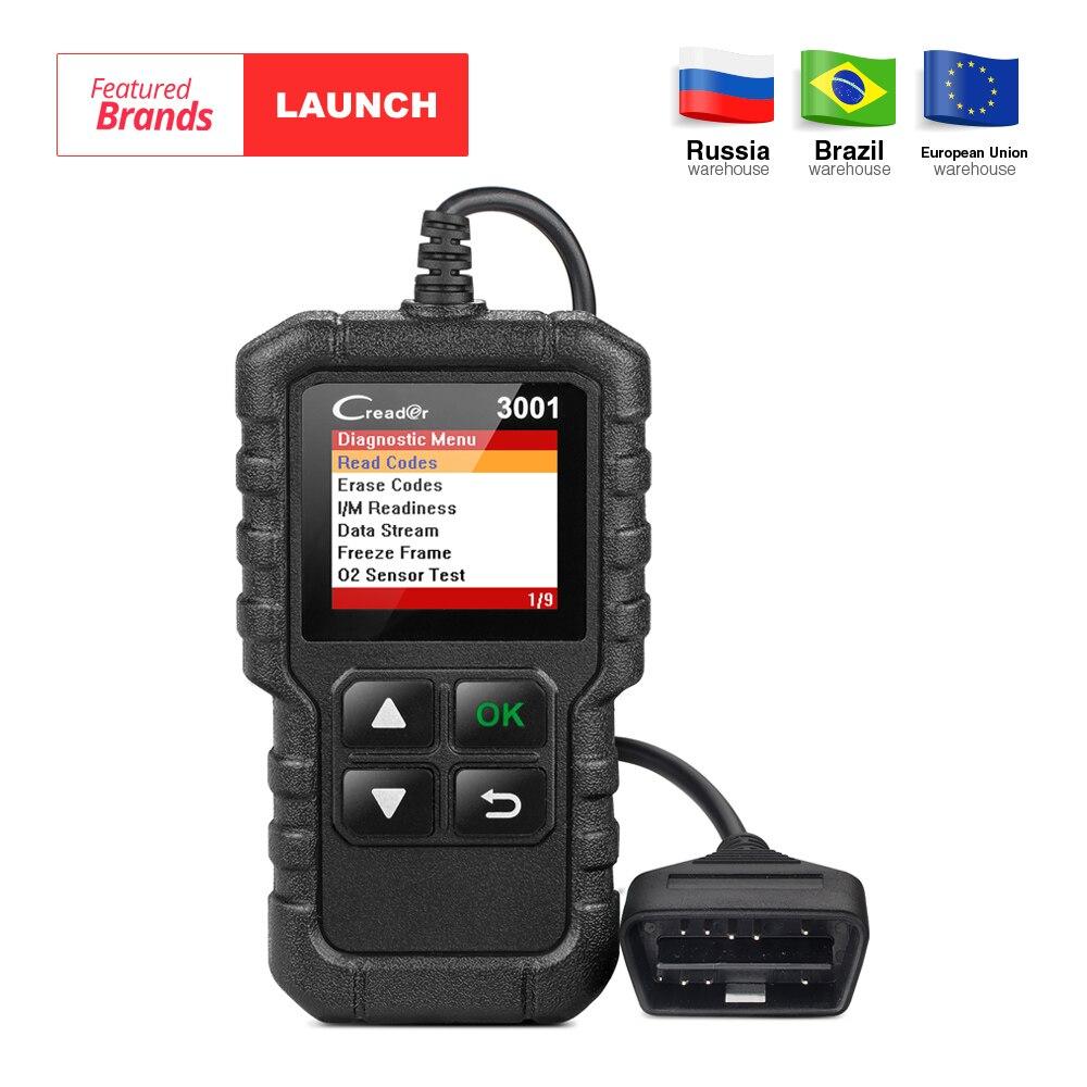 Lanzamiento X431 Creader 3001 Full OBD2 OBDII lector de código herramientas de exploración OBD 2 CR3001 herramienta de diagnóstico del coche PK AD310 NL100 OM123 escáner