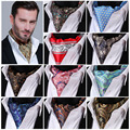 Paisley Floral 100%Silk Ascot Cravat, Casual Jacquard Scarves Scarf Ties Woven Party Ascot FB