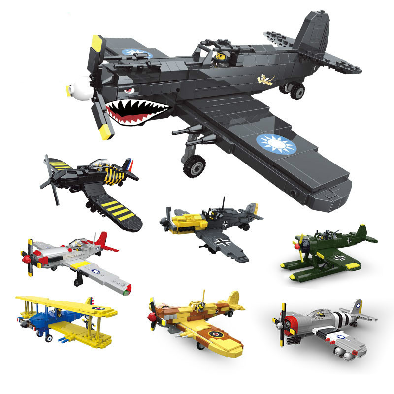 2019 World war  army air forces building block fighter model toy collection  toys for children education2019 World war  army air forces building block fighter model toy collection  toys for children education