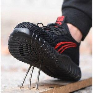 Image 3 - Мужская дышащая обувь для работы, легкая обувь с защитой от разбивания, сетчатые кроссовки для строительства, лето 2019
