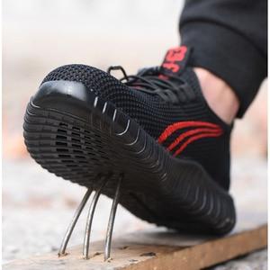 Image 3 - を 2019 新安全男性の夏の通気性作業靴軽量抗スマッシング靴男性工事メッシュスニーカー