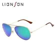 LianSan Fashion Vintage Pilot Polarized Anti UV Anti Glare Sunglasses Women Men Brand Designer Luxury Driving Aluminium LSP025