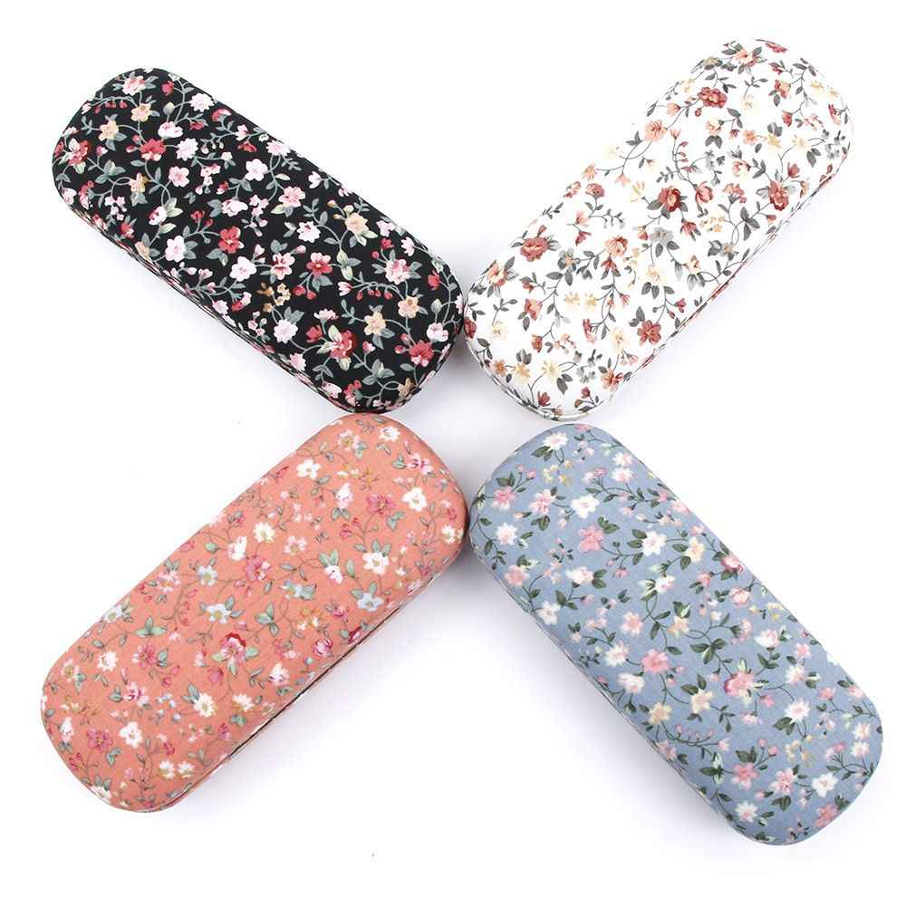 Fashion New Style Protable Floral Sunglasses Hard Eye Glasses Case Eyewear Protector Box Pouch Bag 4 Colors Free Shipping